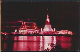 °°° 10873 - THAILAND - SAMUTPRAKAN - LUMINATIONS OF PHRA CHEDI KLANGNAM - With Stamps °°° - Tailandia