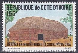 Elfenbeinküste Ivory Coast Cote D'Ivoire 1989 Kultur Culture Wohnen Housing Gebäude Building, Mi. 996 ** - Côte D'Ivoire (1960-...)