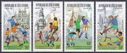 Elfenbeinküste Ivory Coast Cote D'Ivoire 1989 Sport Spiele Fußball Football Soccer Italien Italy, Mi. 1004-7 ** - Côte D'Ivoire (1960-...)