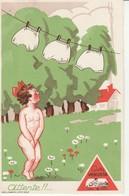 """Publicité-""""Attente""""-Culotte Venusta. - Werbepostkarten"""