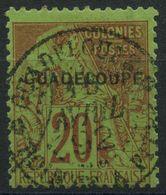 Guadeloupe (1891) N 20 (o) - Oblitérés
