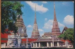 °°° 10874 - THAILAND - BANGKOK - A BIRD'S EYE VIEW OF WAT PHO - 1969 With Stamps °°° - Tailandia