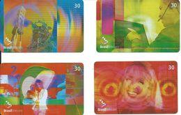 4 Télécartes Brésil Technologie (D 320) - Brésil