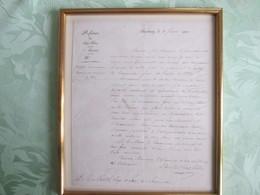 Lettre De La Prefecture Du Bas Rhin 1833,  Pour Le Juge Nessel Haguenau - Old Paper