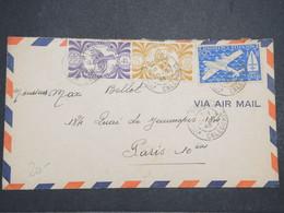 """NOUVELLE CALÉDONIE - Enveloppe De Nouméa Pour Paris En 1946 , Affranchissement """" France Libre """" - L 14693 - Cartas"""