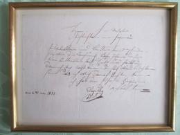 LETTRE   Recu En Mai 1831 - Vieux Papiers