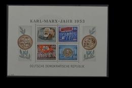 1953, DDR, Karl Marx Block, MiNr. Block 9A, **, Y I - Non Classificati