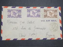 """NOUVELLE CALÉDONIE - Enveloppe De Nouméa Pour Paris En 1946 , Affranchissement """" France Libre """" - L 14694 - Cartas"""