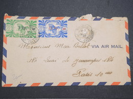 """NOUVELLE CALÉDONIE - Enveloppe De Nouméa Pour Paris En 1946 , Affranchissement """" France Libre """" - L 14695 - Cartas"""