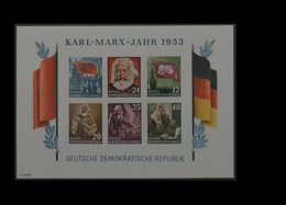 1953, DDR, Karl Marx Block, MiNr. Block 8B, **, Y I - Non Classificati