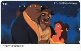 JAPAN F-944 Magnetic NTT [110-011] - Cinema, Walt Disney, The Beauty And The Biest - Used - Japan
