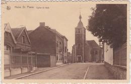 HAINE-ST.-PIERRE-EGLISE DU FOND-BELLE ANIMATION-EDIT.THIRION-CARTE ENVOYEE-1937-VOYEZ LES 2 SCANS - La Louvière
