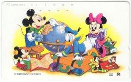 JAPAN H-336 Magnetic NTT [110-131371] - Walt Disney, Mouse Family - Used - Japan