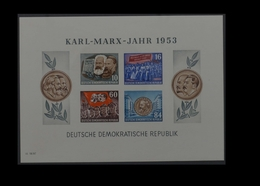 1953, DDR, Karl Marx Block, MiNr. Block 9B, **, Y I - Non Classificati