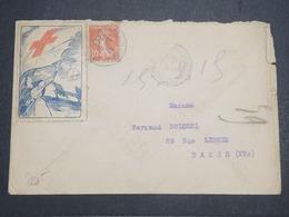 FRANCE - Vignette Croix Rouge Sur Enveloppe En 1915 - L 14698 - Commemorative Labels