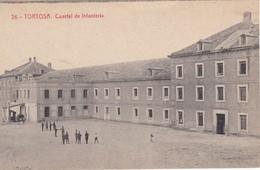 26 POSTAL DE TORTOSA DEL CUARTEL DE INFANTERIA (FOTOTIPIA THOMAS) (TARRAGONA) FIRMA RAMON VALLES I SANZ - Tarragona