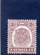 NEGRI SEMBILAN 1896-9 * - Negri Sembilan