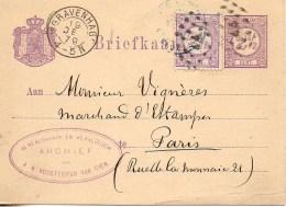 Entier Postal Des Pays-Bas De 1879 - 1877-1920: Période Semi Moderne