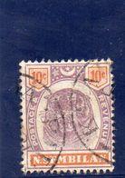 NEGRI SEMBILAN 1896-9 O - Negri Sembilan