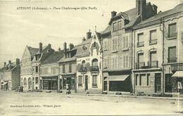 08 Ardennes  ATTIGNY  Place Charlemagne Coté Nord Animée - Attigny
