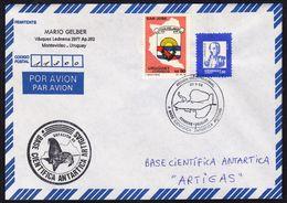 ANTARCTIC,URUGUAY,20.9.1990,1st Flight To Base ATRIGAS, Cachet, Look Scan,RARE !! 28.2-27 - Briefmarken
