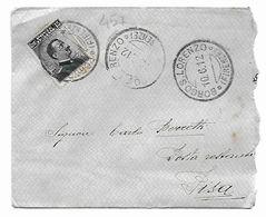 EDB457  - REGNO , 15 Cent N. 96 Da Borgo S. Lorenzo 10/6/1912 - 1900-44 Vittorio Emanuele III