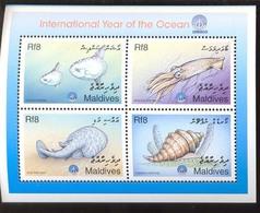MALDIVES   2347  MINT NEVER HINGED SOUVENIR SHEET OF FISH-MARINE LIFE - Fishes