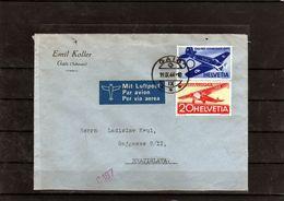 134-SWITZERLAND 1944-AIR MAIL COVER -GAIS-BRATISLAVA 19.IX.1944 - Schweiz