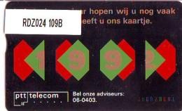 Telefoonkaart  LANDIS&GYR NEDERLAND * RDZ.024 109B * Pays Bas Niederlande Prive Private  ONGEBRUIKT * MINT - Nederland