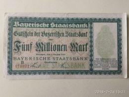 Munchen 5 Milioni Mark 1923 - [11] Emissioni Locali