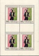 Le Jongleur Par F.Tichy,Jeux De Cartes,Bridge  BF - Tchecoslovaquie 1961 - Blocks & Kleinbögen