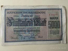 Munchen 5000 Mark 1922 - [11] Emissioni Locali