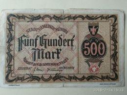 Munchen 500 Mark 1922 - [11] Emissioni Locali