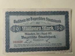 Munchen 50 Milione Mark 1923 - [11] Emissioni Locali