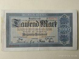 Munchen 1000 Mark 1922 - [11] Emissioni Locali