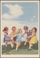 Indanthren - Willy Jüttner, Kinderreigen, C.1930s - AK - Advertising