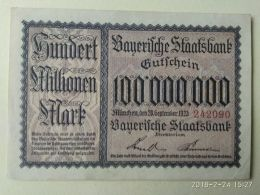 Munchen 100 Milioni Mark 1923 - [11] Emissioni Locali