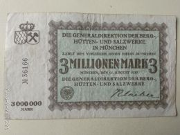 Munchen 3 Milioni Mark 1923 - [11] Emissioni Locali