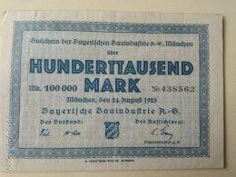 Munchen 100000 Mark 1923 - [11] Emissioni Locali