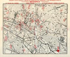 Hôtel Metropole / Bruxelles / Brochure / Met Geographische Kaart Van Brussel / In Het Duits / En Allemand - Cartes Géographiques