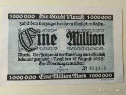 Neuss 1 Milione Mark 1923 - [11] Emissioni Locali