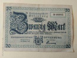 Offemburg 20 Mark 1919 - [11] Emissioni Locali