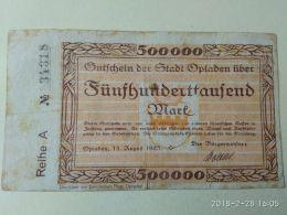 Oplanden 500000 Mark 1923 - [11] Emissioni Locali