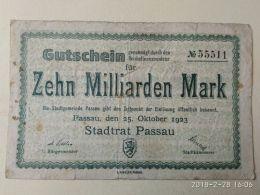 Passau 10  Miliardi Mark 1923 - [11] Emissioni Locali
