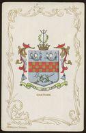 Ja Ja Heraldic Series Postcard : Chatham (coat Of Arms, Crest) +/- 1905 - United Kingdom