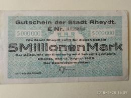 Rheydt 5 Milioni Mark 1923 - [11] Emissioni Locali