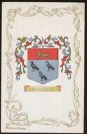 Ja Ja Heraldic Series Postcard : Canterbury (coat Of Arms, Crest) +/- 1905 - United Kingdom
