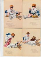 Pinocchio Di Marcello Dudovich, Serie Completa 6 Cartoline Eureka Non Viaggiate. Anni 20  Rara. - Illustratori & Fotografie