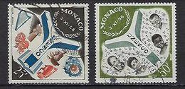 """Monaco YT 511 & 512 """" Inauguration Du Palais UNESCO """" 1959 Oblitéré - Used Stamps"""