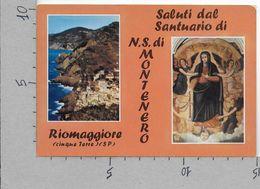 CARTOLINA NV ITALIA - RIOMAGGIORE (SP) - Saluti Dal Santuario Di N.S. Di Montenero - 10 X 15 - La Spezia